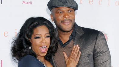 """PHOTO: Oprah Winfrey and Tyler Perry arrive at AFI FEST 2009 Gala Screening of """"Precious"""" at Grauman's Chinese Theater on Nov. 1, 2009 in Hollywood."""