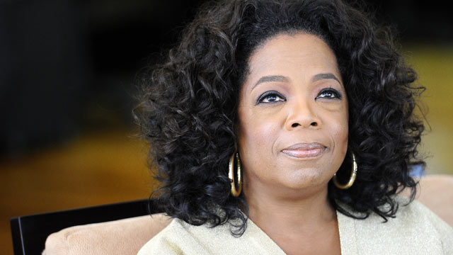 PHOTO: US talk show queen Oprah Winfrey looks on as she answers to journalists questions at her South African girls academy, Jan. 13, 2012 in Henley on Klip.