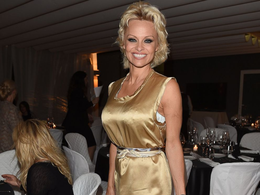 PHOTO: Pamela Anderson attends a Gala Dinner during the 60th Taormina Film Fest at Hotel Imperiale on June 18, 2014 in Taormina, Italy.