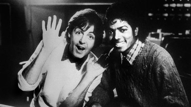 PHOTO:Paul McCartney and Michael Jackson are shown, Dec. 19, 1983.