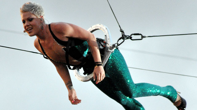 PHOTO: Pink performs during the third and final day of Pink Pop Festival on May 30, 2010 in Landgraaf, Netherlands.