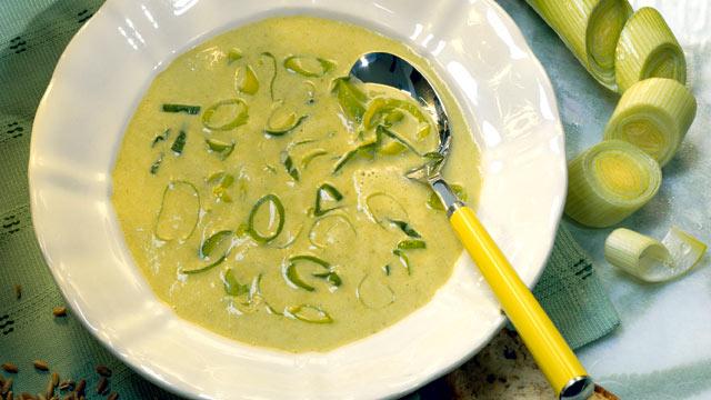 PHOTO: Potato leek soup is shown here.