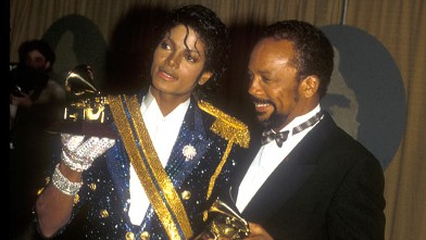 PHOTO: Michael Jackson and Quincy Jones are shown at the Grammys in Los Angeles, Calif., Feb. 28, 1984.