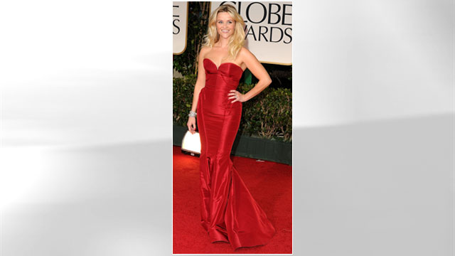 PHOTO: Reese Witherspoon arrives at the 69th Annual Golden Globe Awards at The Beverly Hilton hotel, Jan. 15, 2012 in Beverly Hills.