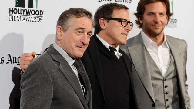 PHOTO: Robert De Niro, David O. Russell and Bradley Cooper