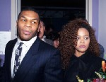 PHOTO: Mike Tyson poses with his wife Robin Givens at his training camp, June 10, 1988 in New York City.