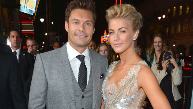 "PHOTO: TV personality Ryan Seacrest, left, and actress Julianne Hough arrive at the premiere of Relativity Media's ""Safe Haven"" at TCL Chinese Theatre, Feb. 5, 2013 in Hollywood, Calif."