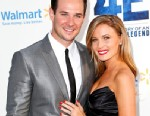 """PHOTO: Ryan Merriman and Kristen McMullen attend the premiere of Warner Bros. Pictures And Legendary Pictures """"42"""" on April 9, 2013 in Hollywood, Calif."""