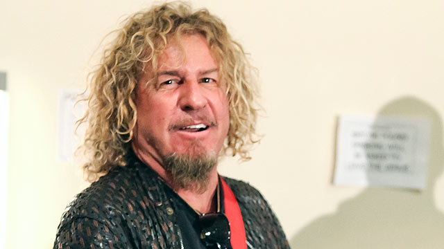 PHOTO: Sammy Hagar of Chickenfoot backstage at Chickenfoot's concert at Brixton Academy in this Jan. 14, 2012 file photo in London.