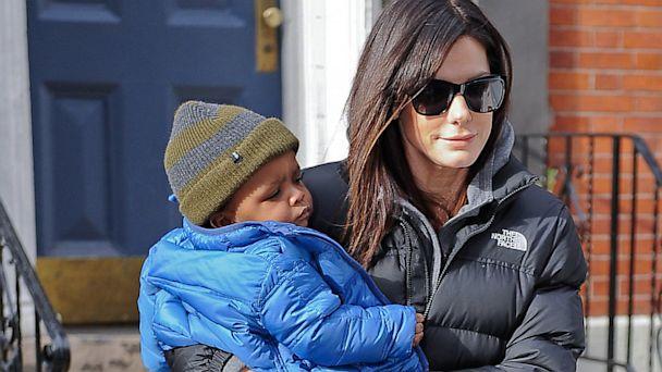 PHOTO: Sandra Bullock and son