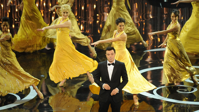 PHOTO: Host Seth MacFarlane performs onstage at the 85th Annual Academy Awards on February 24, 2013 in Hollywood.