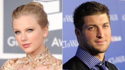 gty taylor swift tim tebow jt 120301 wblog Taylor Swift, Tim Tebow Reportedly Dine Together, Spark Rumors