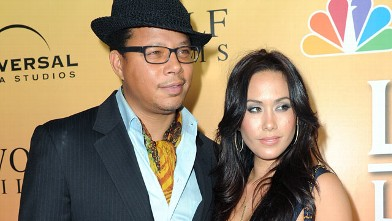 "PHOTO: Terrence Howard and Michelle Ghent arrive at premiere of NBC's ""Law & Order: Los Angeles"" held at Drai's Hollywood, Sept. 27, 2010 in Los Angeles, Calif."