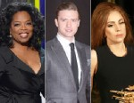 PHOTO:Oprah Winfrey, Justin Timberlake and Lady Gaga are among the most influential celebrities.