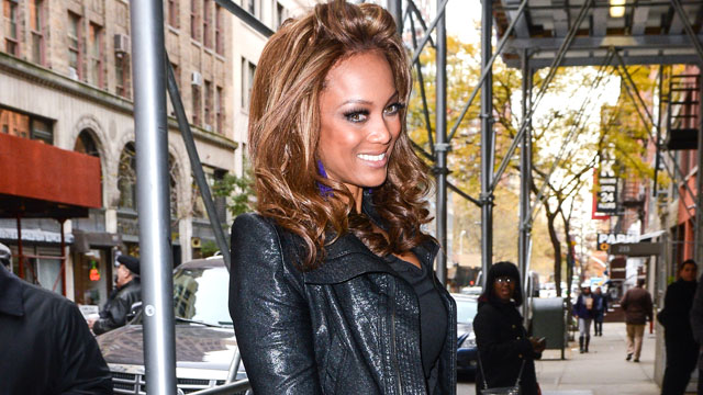 "PHOTO: Tyra Banks enters the ""Wendy Williams Show"" taping on November 15, 2012 in New York City."