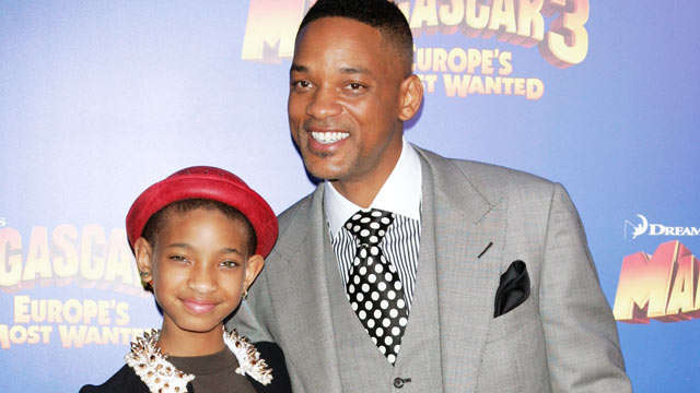 "PHOTO: Will Smith and his daughter Willow attend the ""Madagascar 3"" premiere at the Ziegfeld Theater on June 7, 2012 in New York City."