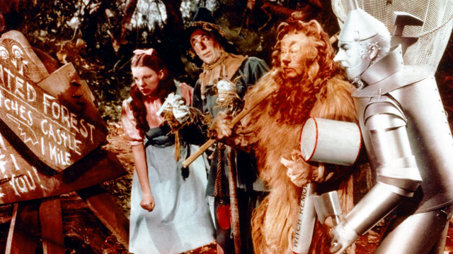 PHOTO: Judy Garland, Ray Bolger, Bert Lahr and Jack Haley in a publicity still from the 1939 film, 'The Wizard of Oz'.