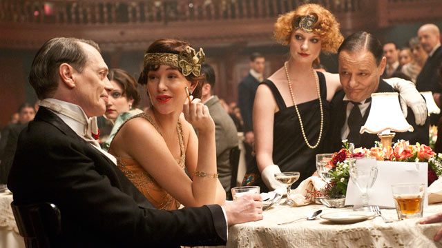 PHOTO: Steve Buscemi and Paz de la Huerta are seen in a scene from the HBO show Boardwalk Empire.