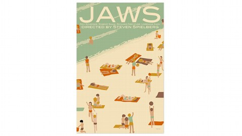 ht JAWS Retro Poster kb 121213 wblog Gift Guide: 5 Fun, Funky Gifts for the Pop Culture Lover in Your Life