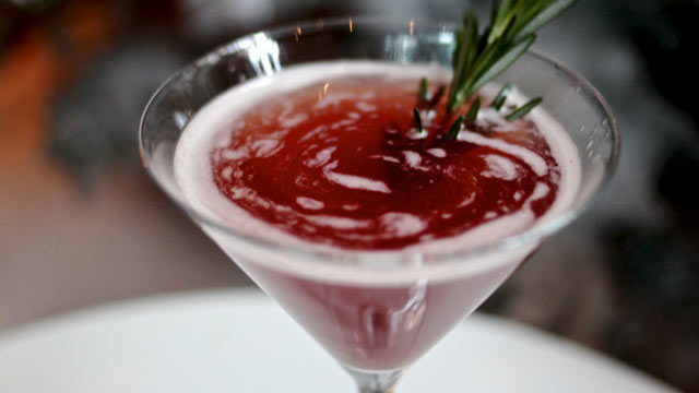PHOTO: Marble Lane's Holly and Ivy cocktail is shown here.
