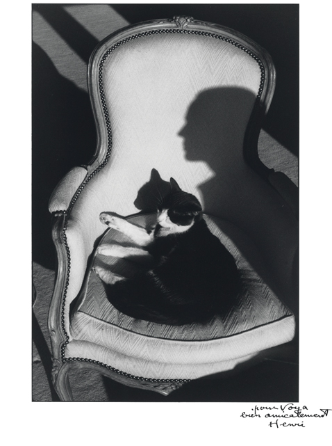 ht Our Cat Ulysses and Martine Shadow 1988 blog Rare Photos by Henri Cartier Bresson to Be Auctioned