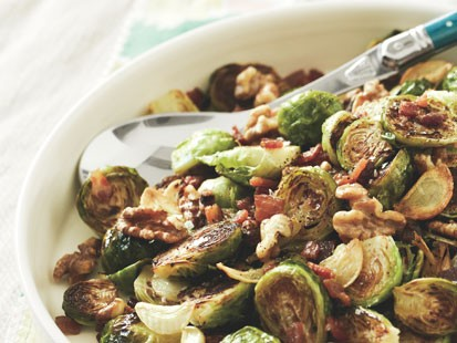 PHOTO: Jessica Albas roasted brussels sprouts recipe is shown here.