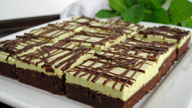 PHOTO: Chef Amy Green's chocolate mint brownies are shown here.