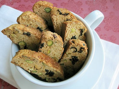 PHOTO: Chef Amy Greens pistachio cranberry biscotti are shown here.