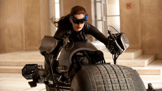"""PHOTO:Anne Hathaway portrays Catwoman in a scene from """"The Dark Knight Rises,"""" set for release on July 20, 2012."""