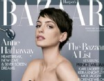 PHOTO: Anne Hathaway on the February 2013 cover of Harpers Bazaar.