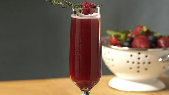 PHOTO: The ball drop bellini cocktail from Barefoot Bubbly is shown here.