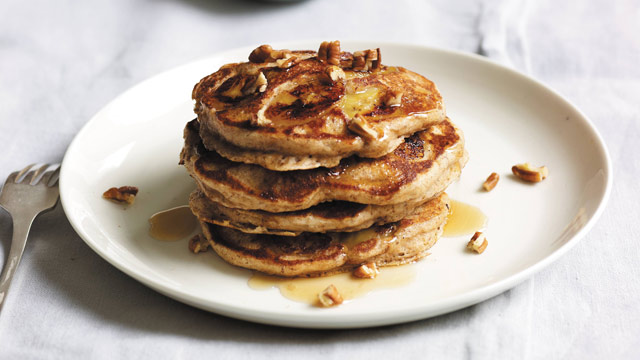 PHOTO: Daphne Oz's banana-pecan buttermilk pancakes are shown here.