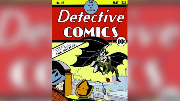 PHOTO: 75th anniversary of DC Comics superhero Batman first appearing in Detective Comics #27, starring as The Bat-Man in a six-page story entitled The Case of the Criminal Syndicate!.