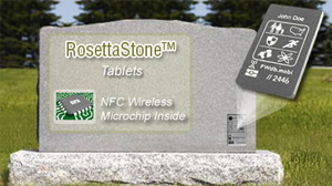 PHOTO High-tech headstones let you speak from beyond the grave.