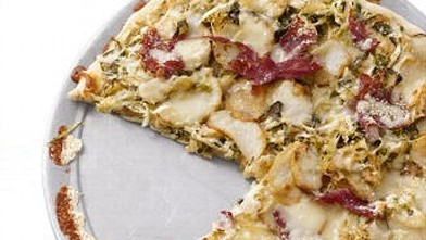 PHOTO: Corned Beef and Cabbage Pizza.