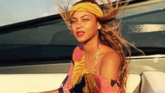 Beyonce Takes a Boat Ride