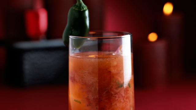 PHOTO: The blood orange jalapeno margarita is shown here.