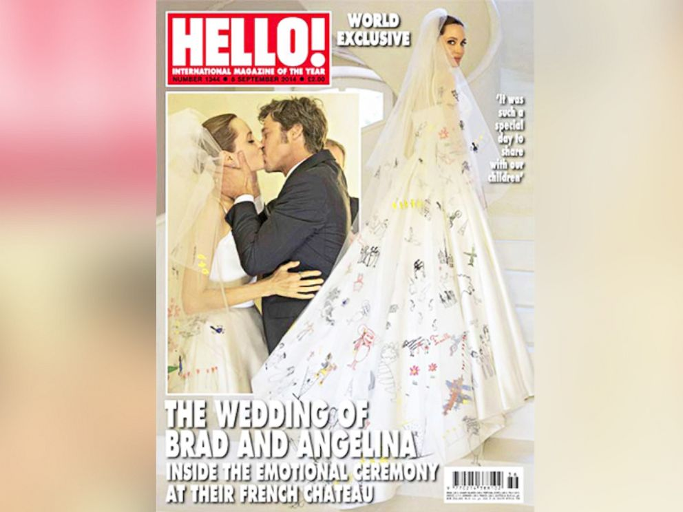 PHOTO: Brad Pitt and Angelina Jolie are pictured on the Sept. 2, 2014 cover of HELLO! magazine.