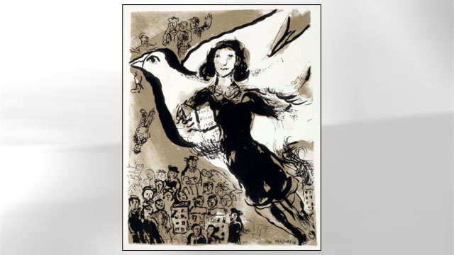 "PHOTO: An illustration from the limited edition ""Diary of a Young Girl by Anne Frank"" with illustrations by Marc Chagall."