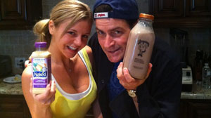 "PHOTO In his first tweet since joining Twitter March 1, 2011, Charlie Sheen posted this Twitpic along with the message, ""Winning..! Choose your Vice...""."