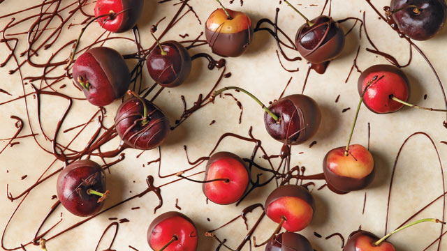 PHOTO: Chef Alice Medrichs chocolate dipped fruit is shown here.