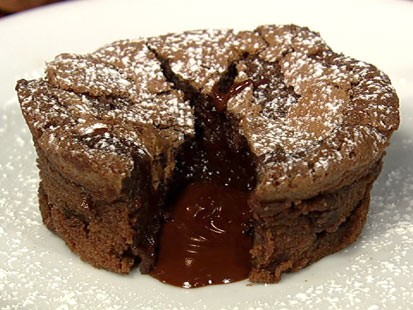 PHOTO: Carla Halls chocolate lava cake is shown here.