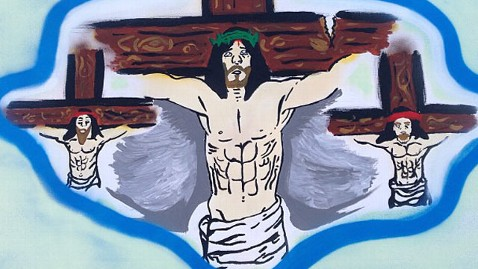 ht chris brown jesus ll 130129 wblog Chris Brown Posts Crucifix Photo After Alleged Fight