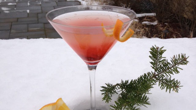 PHOTO: Topnotch resort's cranberry mistletini is shown here.