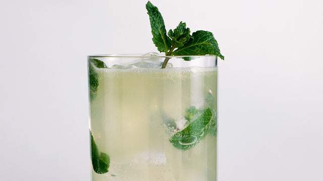 PHOTO: The cucumber muddle cocktail is shown here.