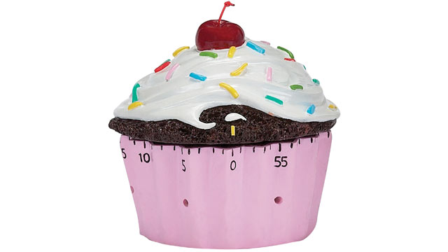 PHOTO: Brightandbold.com's cupcake timer is shown here.