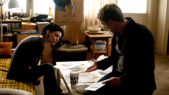 "PHOTO: Rooney Mara and Daniel Craig star in Columbia Pictures' ""The Girl With The Dragon Tattoo."""