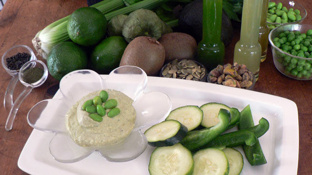 PHOTO: Diane Henderiks' edamame hummus is shown here.