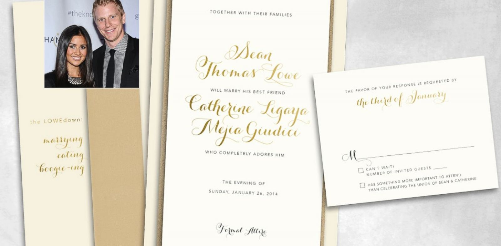 PHOTO: Sean and Catherines wedding invite