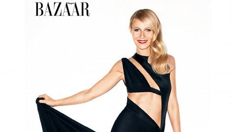 ht gwyneth paltrow harpars jp 120202 wblog Gwyneth Paltrow Enters the Mommy Wars: Compromise...To Be a Wife